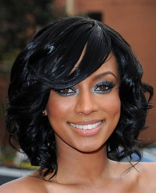 weave hairstyles with swept bangs - Hairstyles - Pinterest - Weave ...