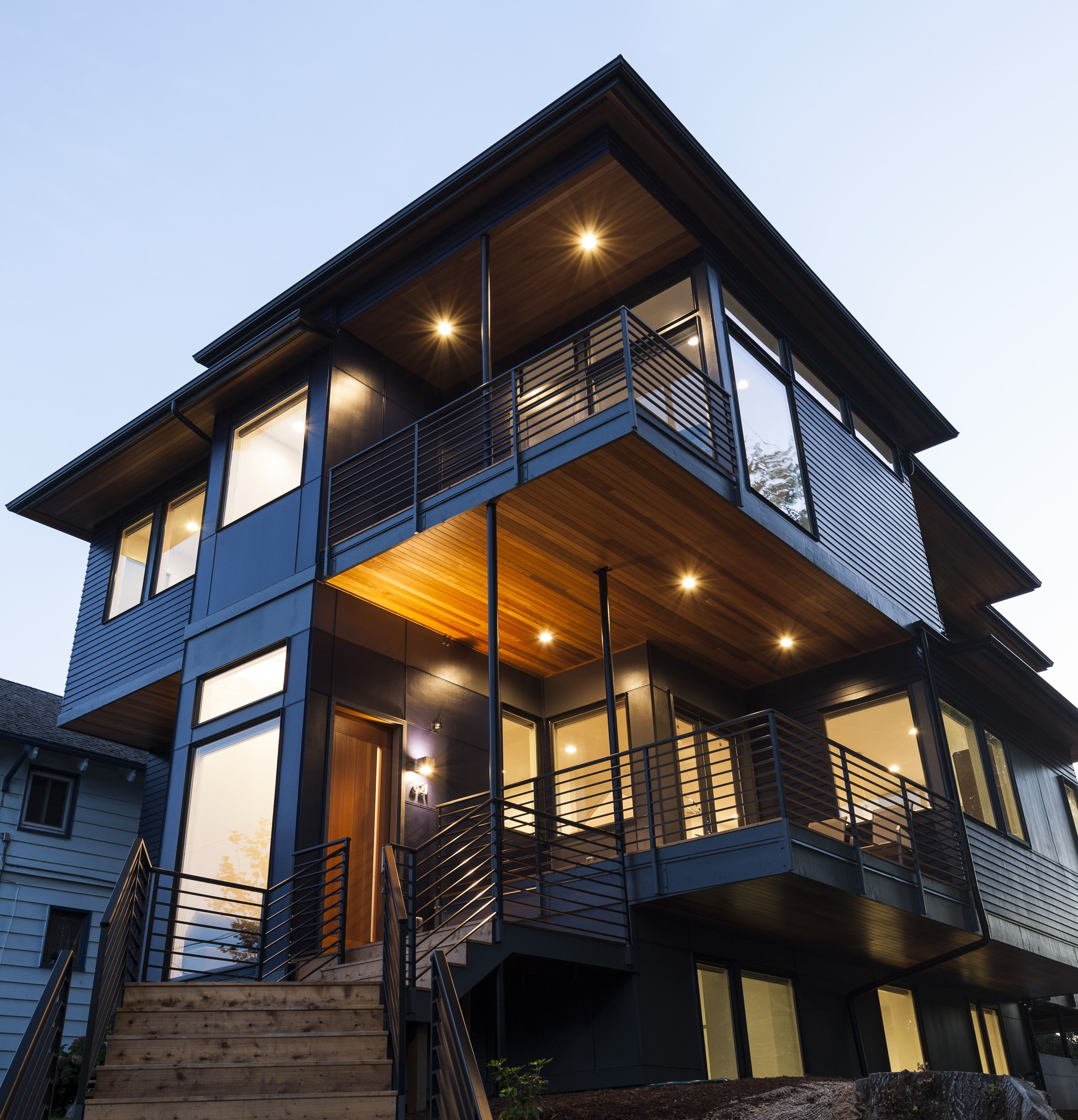 Modern Home In The Capitol Hill Neighborhood Of Seattle Washington Designed By First Lamp Architects First Lamp Architects Builders John Granen Photogra Granen