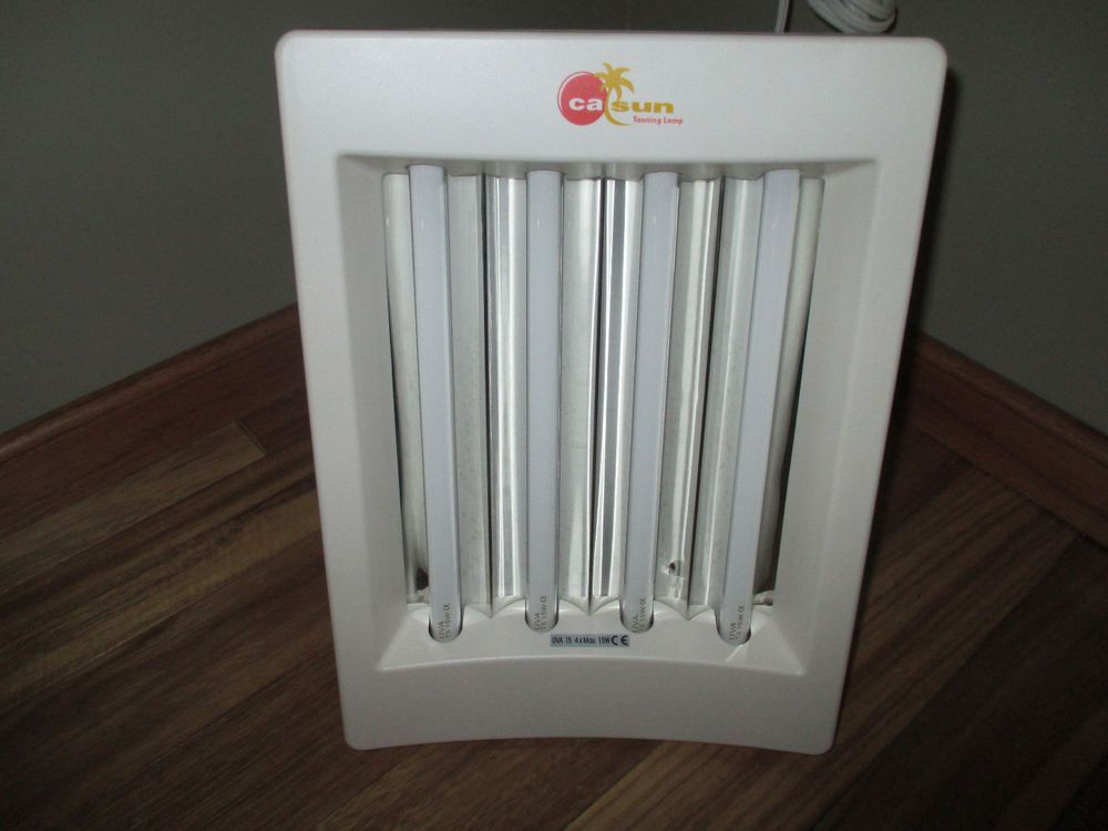 CalSun Tanning Sun Lamp Face Tanner Cal Sun Model EB100 Nice Condition +  Glasses