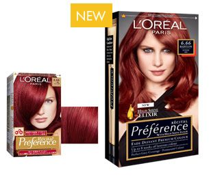 Hair Dye Récital Préférence 6 66 Babylon Intense Red Www Loreal Paris Co Uk