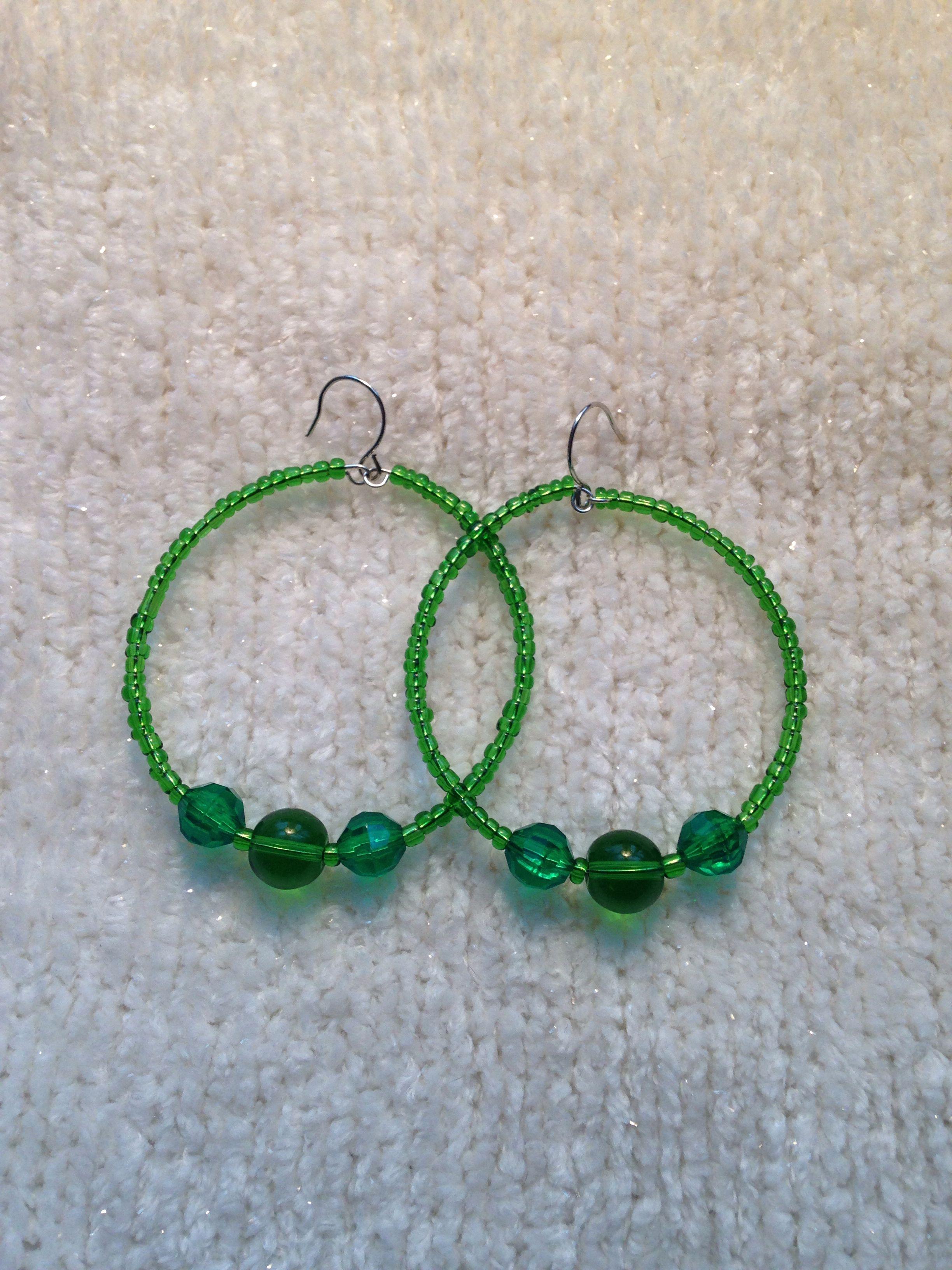Diy hoop earrings hoop earrings beaded hoop earrings