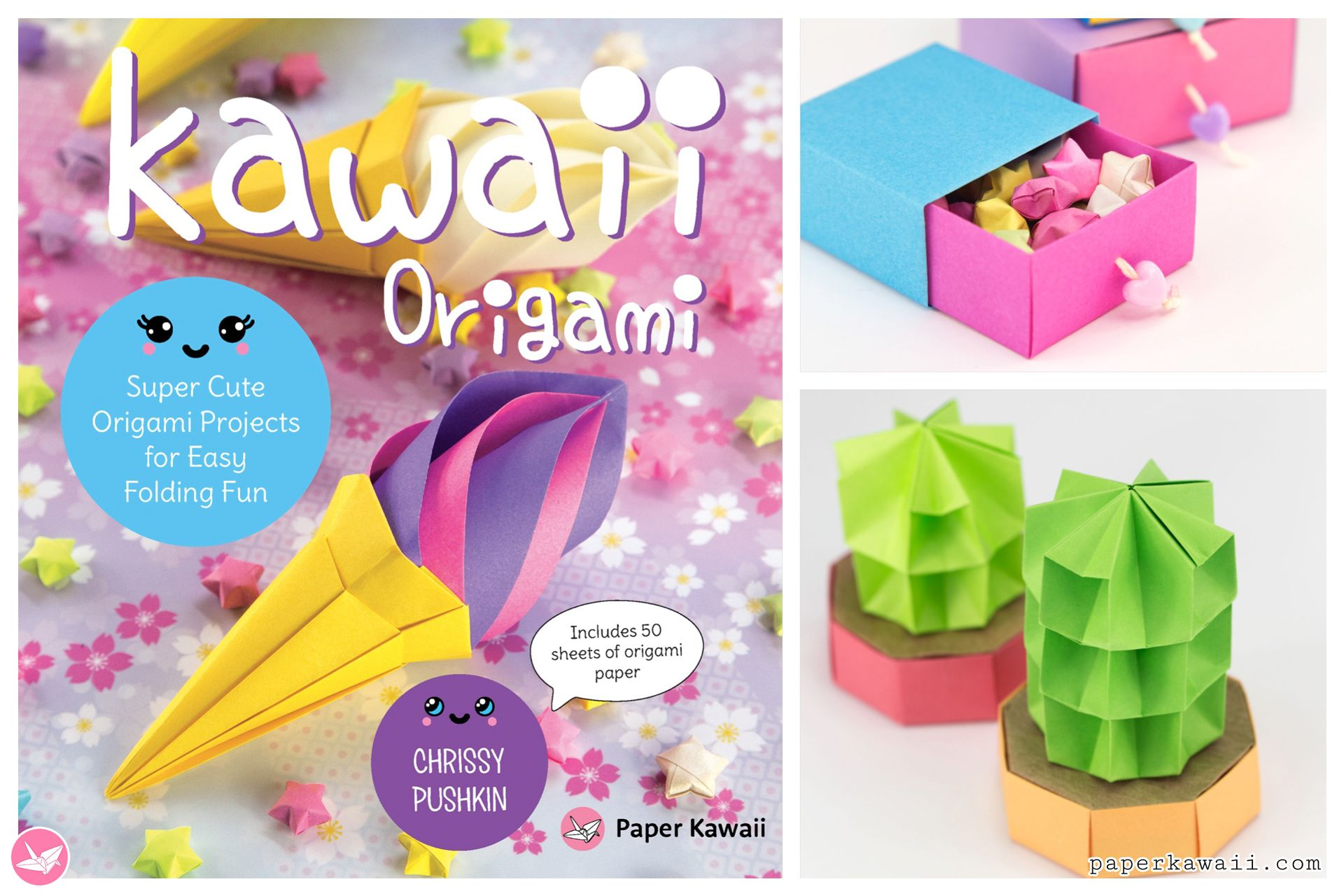 Kawaii Origami Super Cute Origami Projects For Easy Folding Fun Paper Kawaii Cute Origami Book Origami Origami