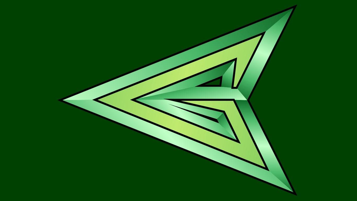 Green Arrow Arrowhead Symbol WP by MorganRLewis on ... Green Arrow Superhero Logo