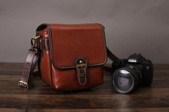 Personalized Leather Camera Bag, Camera DSLR camera bag, Camera purse, SLR Camera Bag, Digital Camera Bag, Satchel, Messenger Shoulder Bag #camerapurse