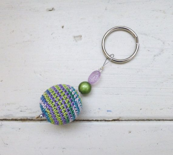 Beaded Key Chain Women s keychain crochet beads gift idea women s gift idea  pink and green wooden beads hand beaded cute keychain by SixthandDurianGifts 5f062d2502