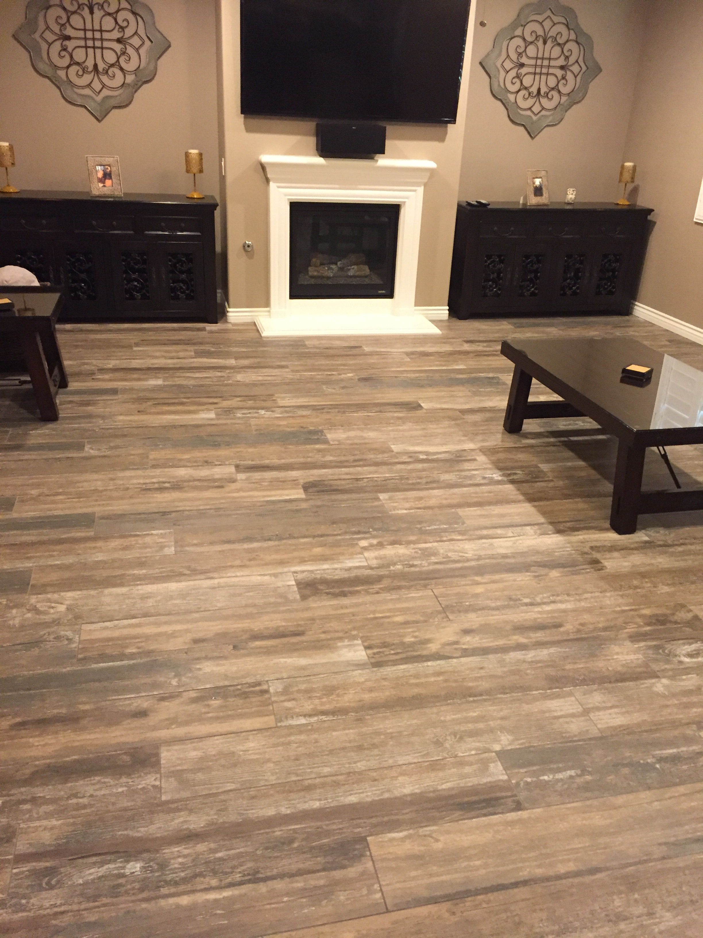 Beautiful Wood Basement Floor