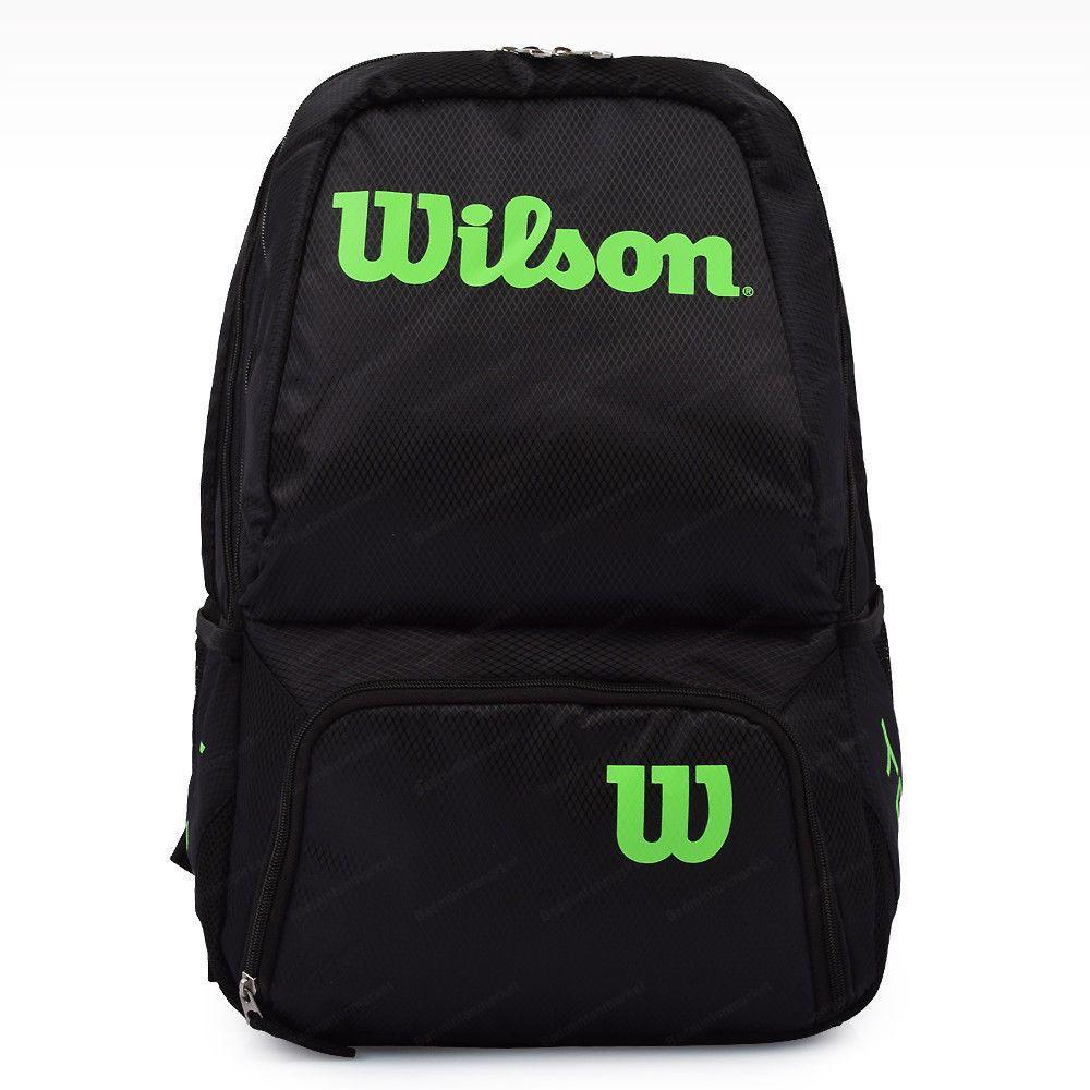Wilson Tour V Backpack Medium Tennis Badminton Bag Racquet Black Lime Wrz 845795 Tennis Bag Tennis Gear Tennis Backpack