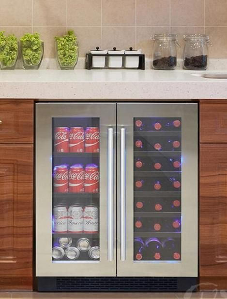 For Those That Love Both Beer And Wine Vinotemp S El 2160bwc Beverage And Wine Cooler Is The Optimal Solution Modern Styling Beverage Center Wine Cooler Wine