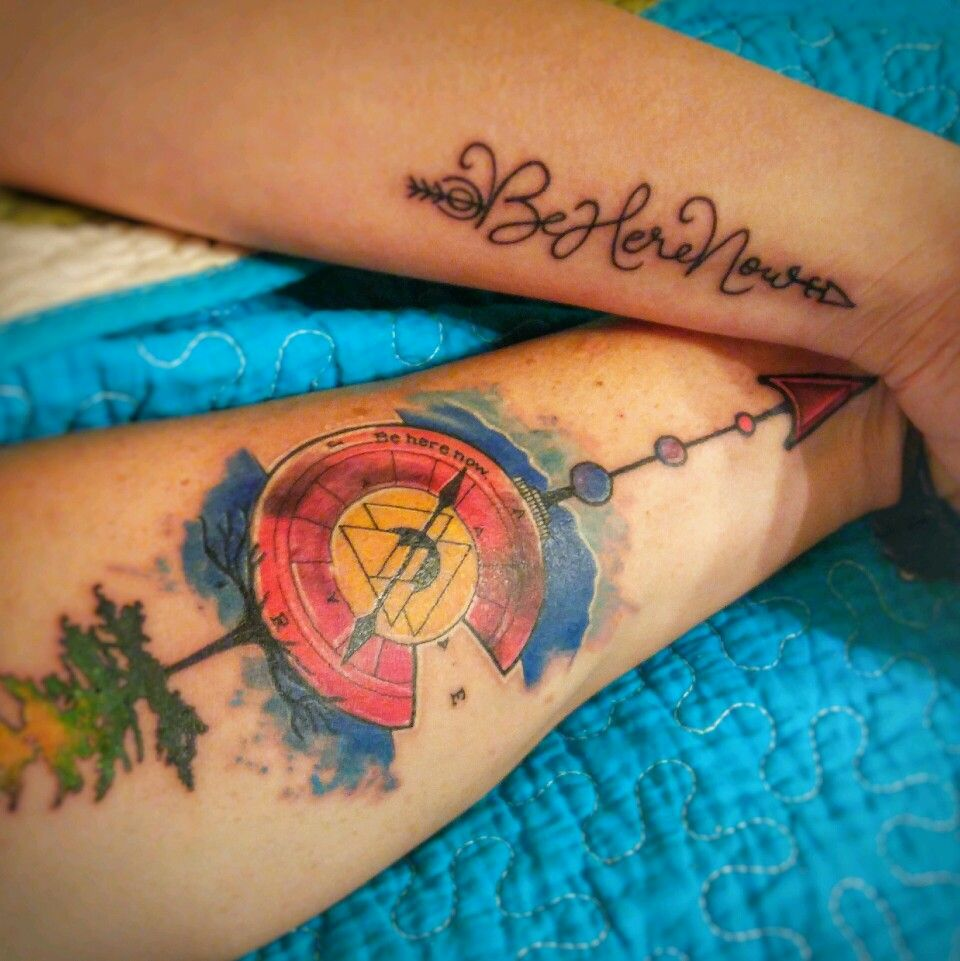Tattoos Beherenow Arrow Compass Colorado Watercolor