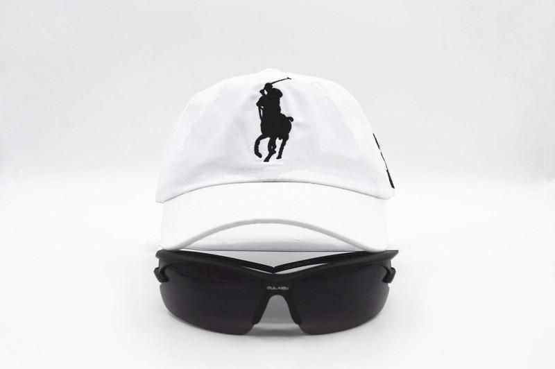 58b26e4aa58 Mens Polo Ralph Lauren Big Pony Embroidered No. 3 Left Stitched Strap Back  Adjustable Cap - White. Mens   Womens ...