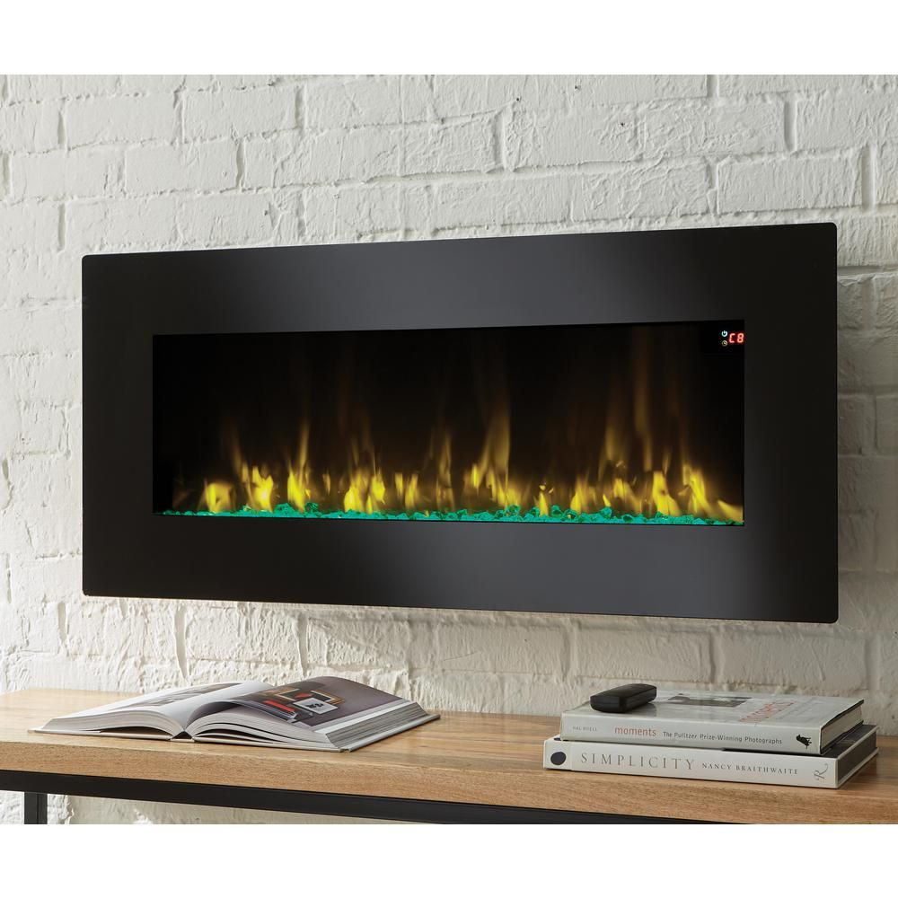 Home Decorators Collection 42 In Infrared Wall Mount Electric Fireplace In Black With Images Wall Mount Electric Fireplace Freestanding Fireplace Electric Fireplace Wall