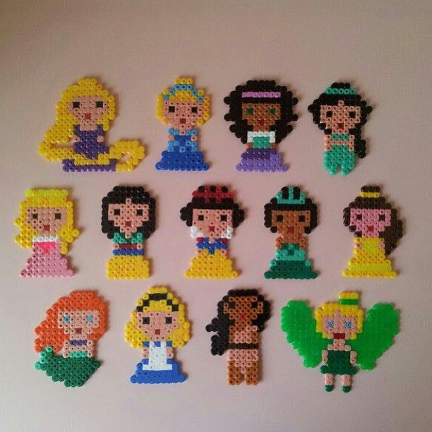 disney princess hama perler beads by troeffel hama beads pinterest cuentas princesas y. Black Bedroom Furniture Sets. Home Design Ideas