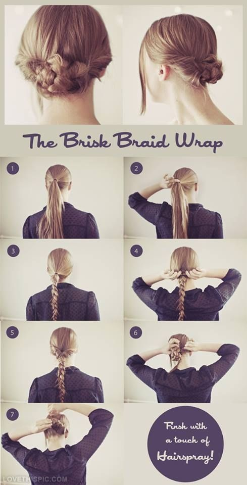 Brisk Braid Wrap Pictures Photos And Images For Facebook Tumblr Pinterest And Twitter Five Minute Hairstyles Hair Styles Long Hair Styles