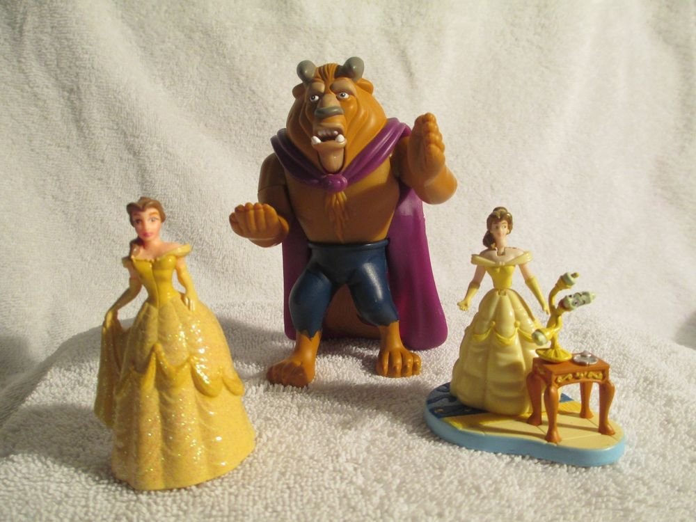Beauty And The Beast Mcdonalds Toys 1 Beast And 2 Belles