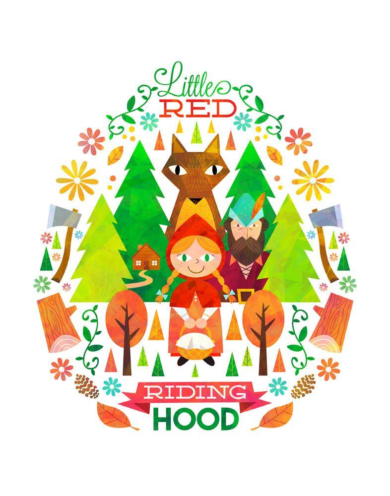 """little red riding hood"" canvasmatt kaufenberg"