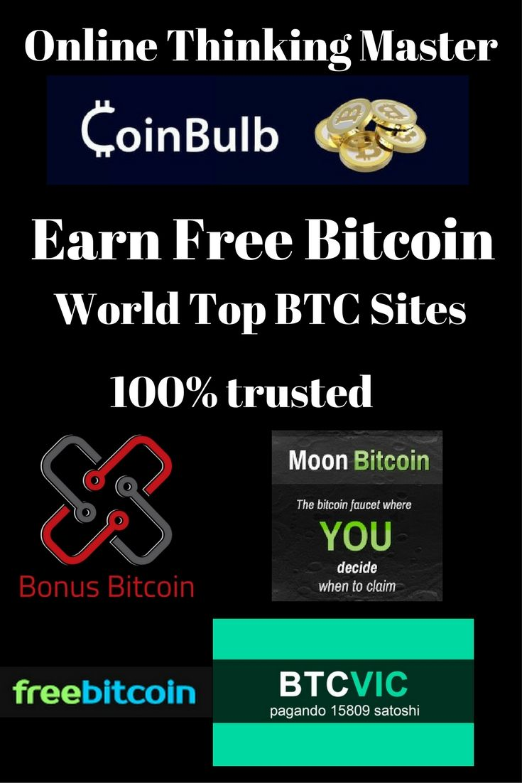 Bitcoin | Earn Free Bitcoin | Pinterest | Cryptocurrency