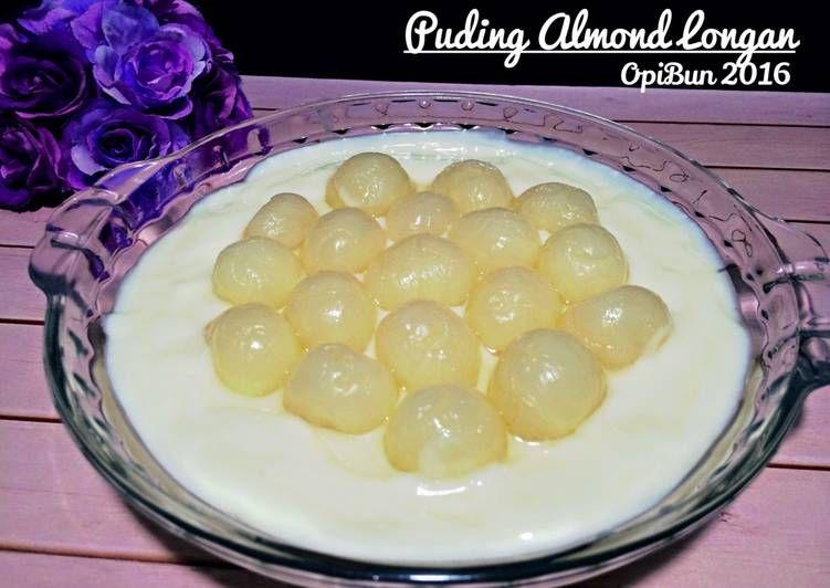 Resep Puding Almond Longan Oleh Opibun Resep Resep Makanan Penutup Makanan Penutup Makanan