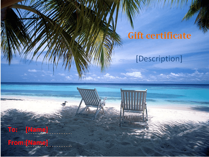 holiday gift certificate template 3 - Vacation Gift Certificate Template