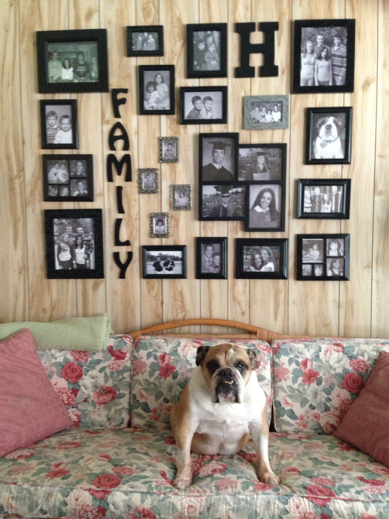 Completed Black And White Photo Wall On Our Screened In