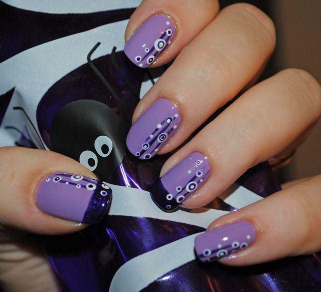 fun party nails good for summer polka dot semi floral design   nails ...