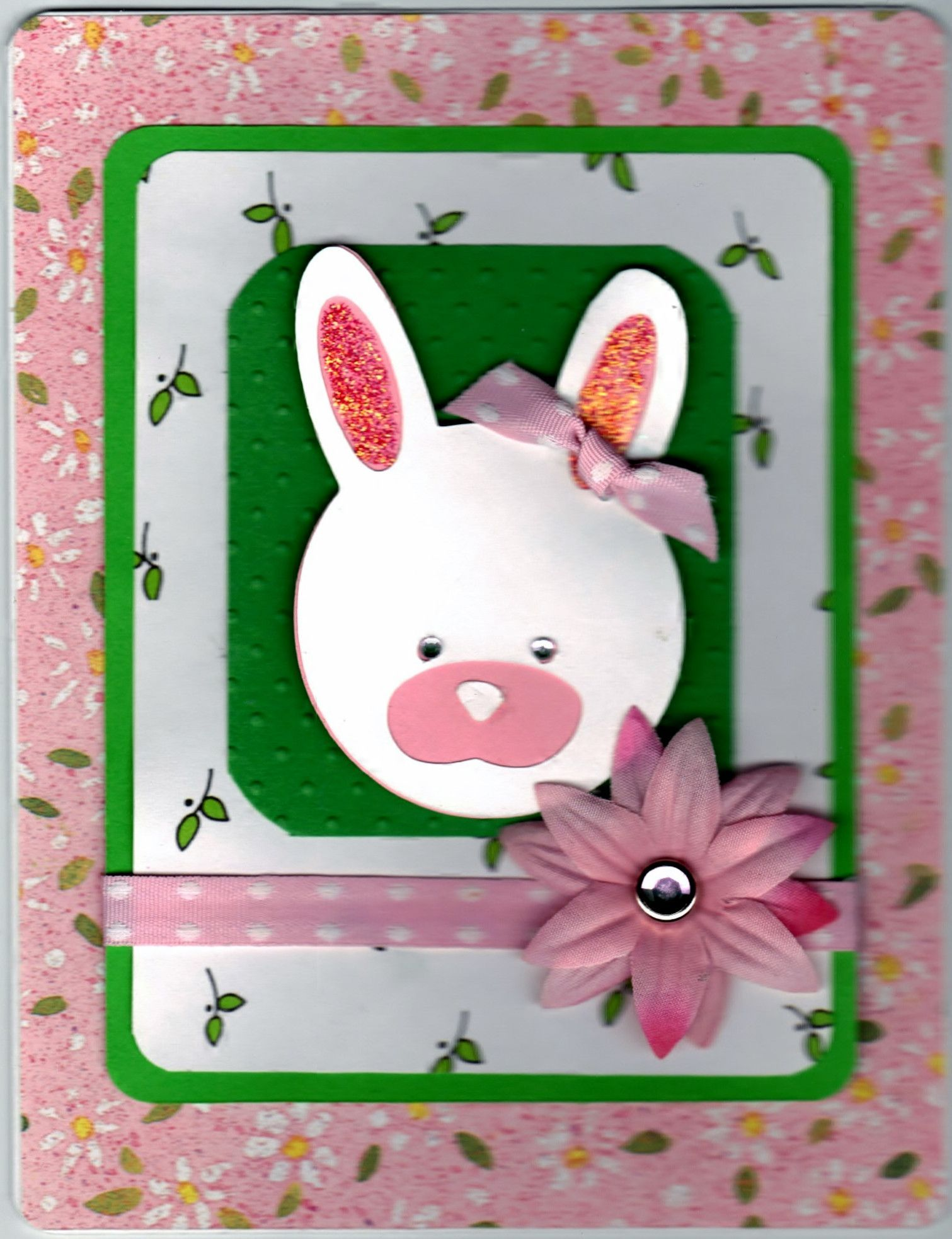 happy easter rabbit handmade good greeting supply card