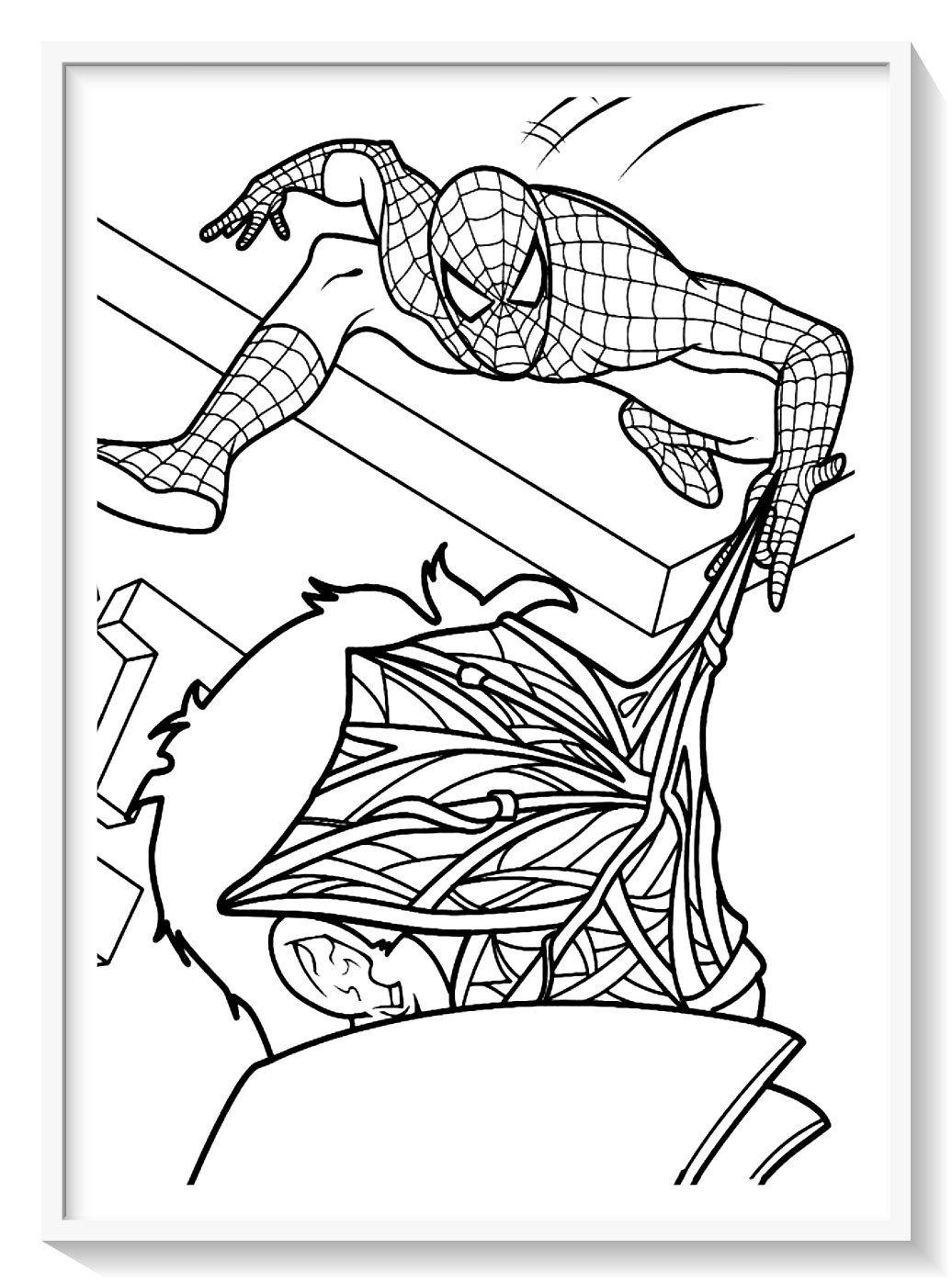 Spiderman para Colorear + 130 imágenes del hombre araña ...
