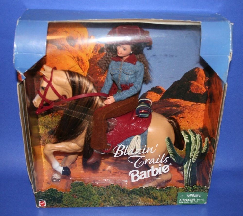 Barbie Blazin Trails Horse Amp Western Wear Playset Nrfb