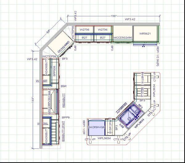 Kitchen Design Layout | Kitchen Cabinets, Kitchen Remodeling, Bathroom  Remodeling , Design .