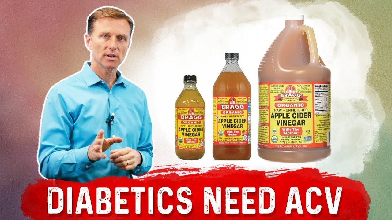 In This Video I Talk About Why Diabetics Should Always Use Apple Cider Vinegar Acv Dr Berg S Videos Apple Cider Vinegar Cider Vinegar Apple Cider