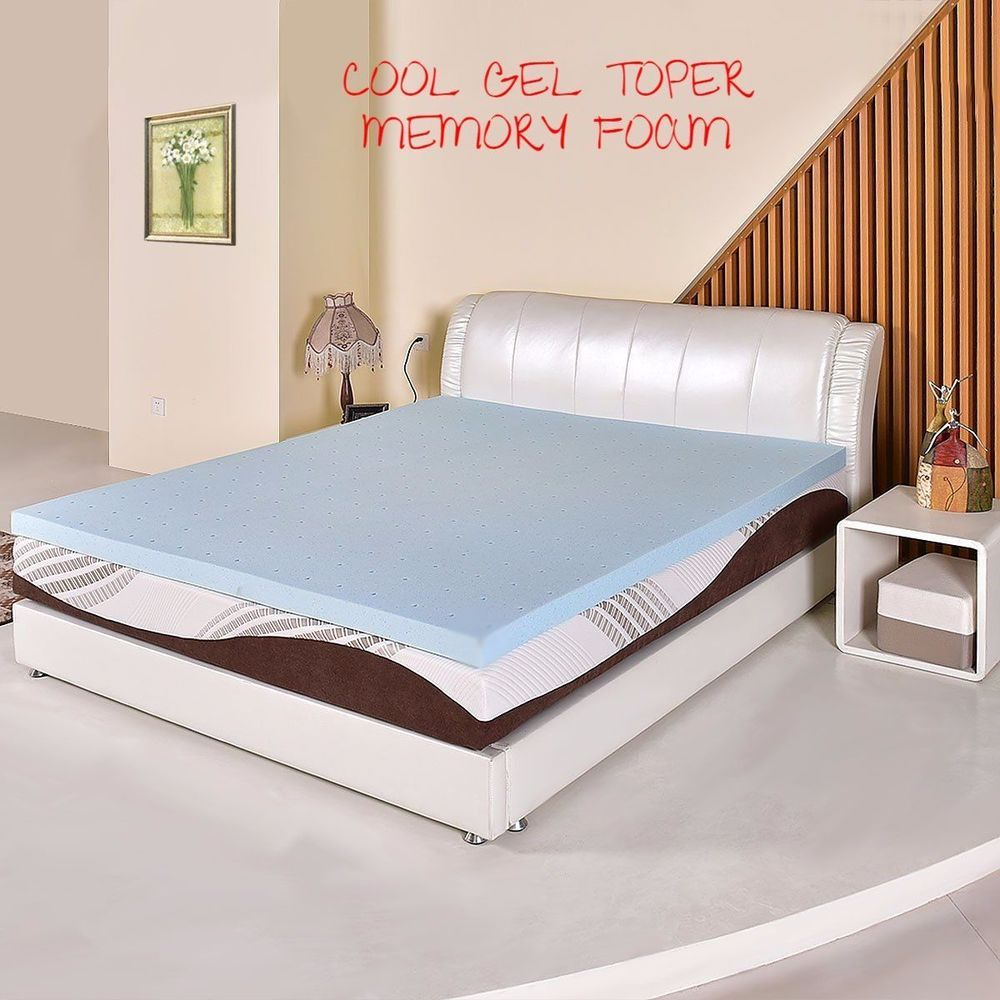 3 Inch High Density Cool Gel Memory Foam Mattress Topper Bed Pad