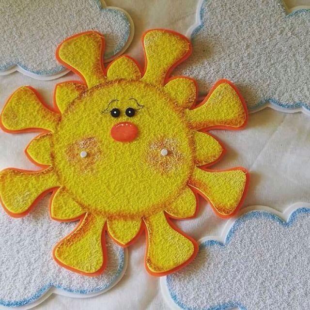 Sol En Foamy Texturizado Modelos Manualidades Sun Y Summer Crafts