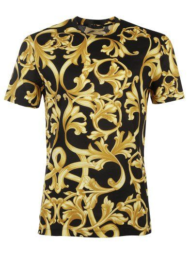 a598ce06f VERSACE Top Versace, Black, Golden Pattern Prints. #versace #cloth #topwear