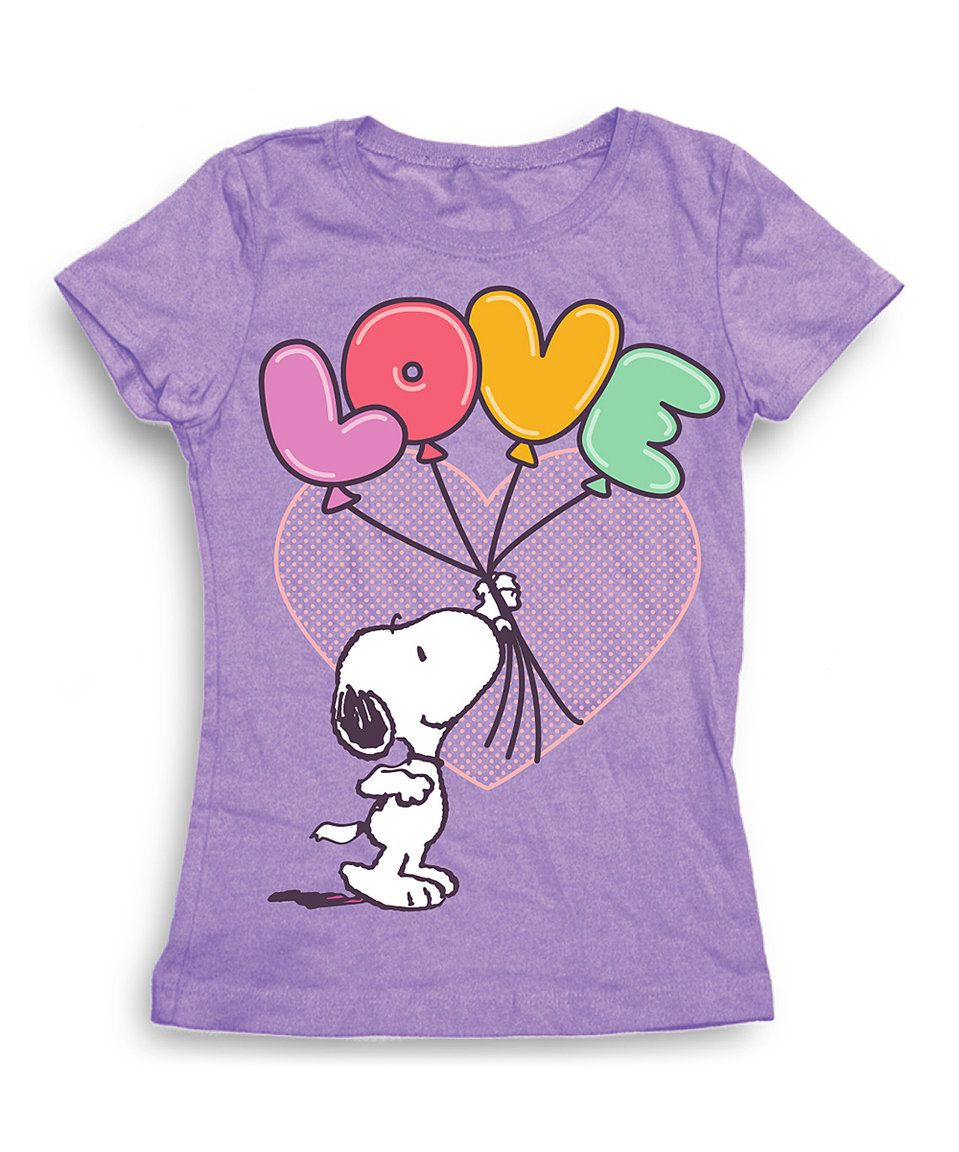 Take a look at this Freeze Peanuts Snoopy 'Love' Tee - Girls today!