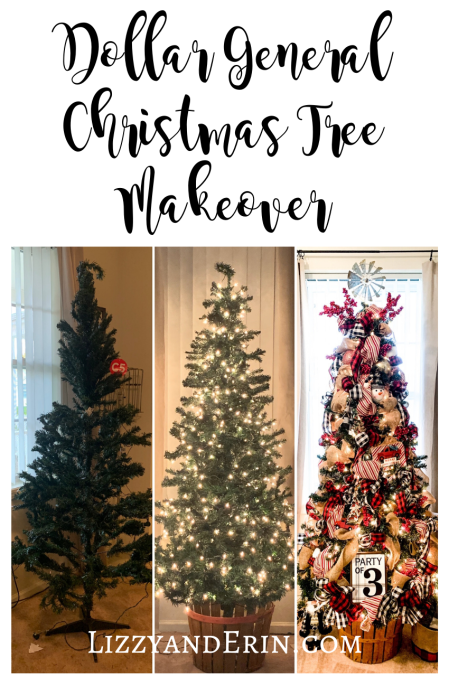 Dollar General Christmas Tree Makeover Lizzy Erin Dollar General Christmas Trees Diy Christmas Garland Christmas Tree Garland