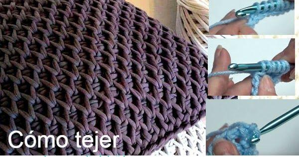 Cómo se teje el punto panal de abeja o colmena en crochet tunecino ...