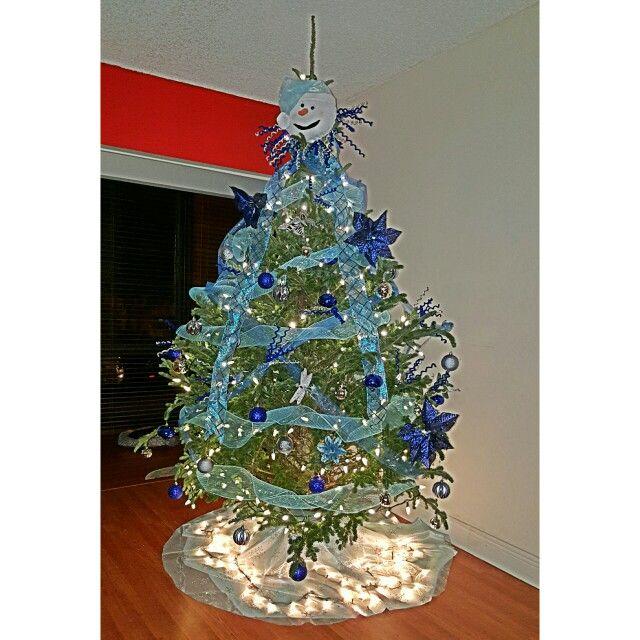 Arbolito navideño azul