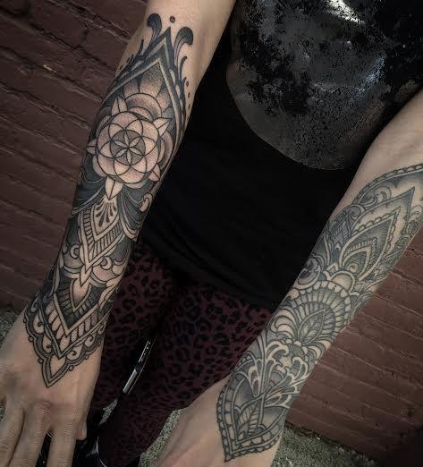Tattoo By Laurajadetattoos Laura: Ornamental Forearm Tattoos By Laura Jade -