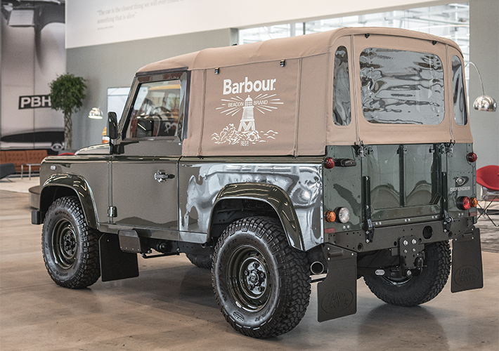 Introducing The Custom Barbour X Land Rover Defender Land Rover Land Rover Defender Land Rover Car
