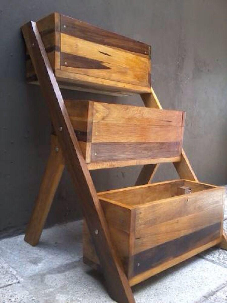 maceteros de madera dura aptos para intemperie