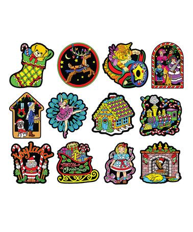 Another great find on #zulily! Ornament 12-Piece Velvet Die-Cut Coloring Set #zulilyfinds