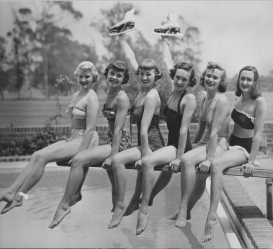 Ice Capade skaters, 1952