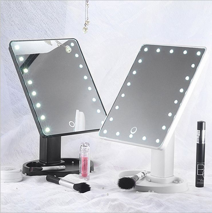 Led Mirror Cosmetic Folding Portable Compact Pocket With 22 Led
