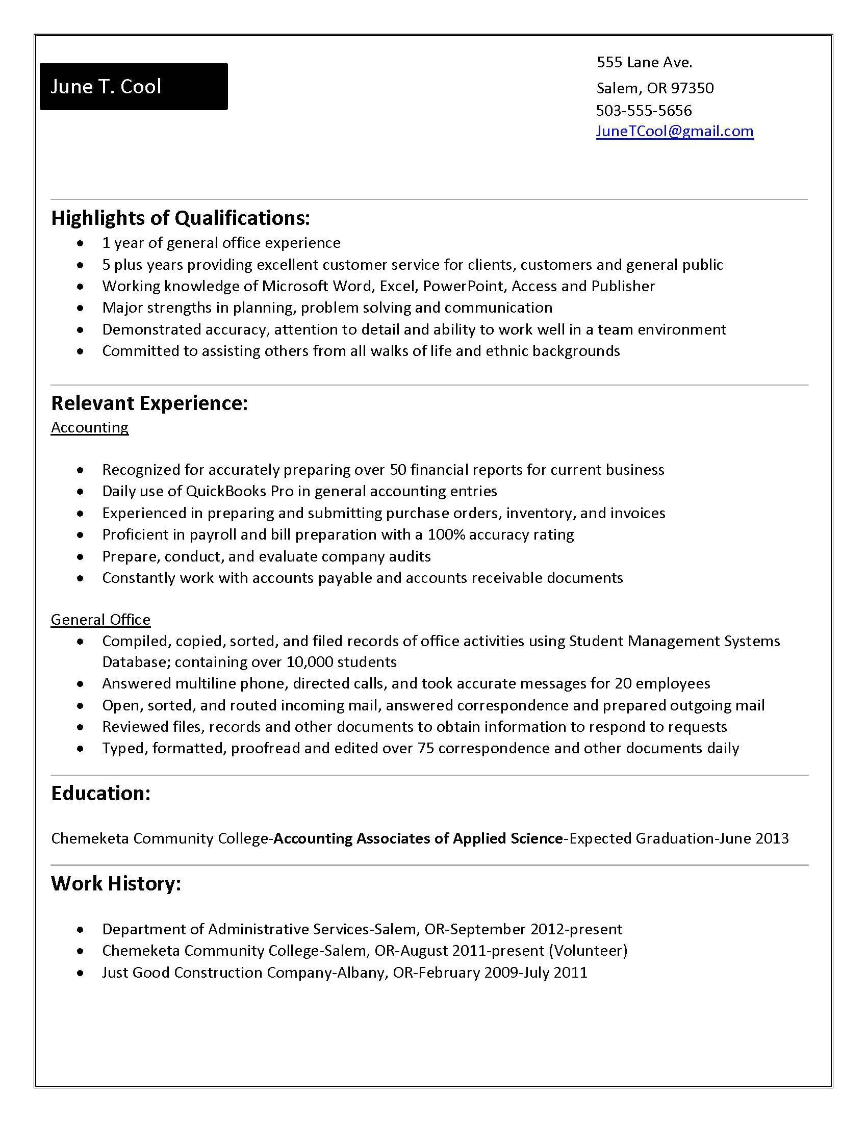Resume Format For 5 Years Experience In Accounting Resume Format Student Resume Template Functional Resume Internship Resume