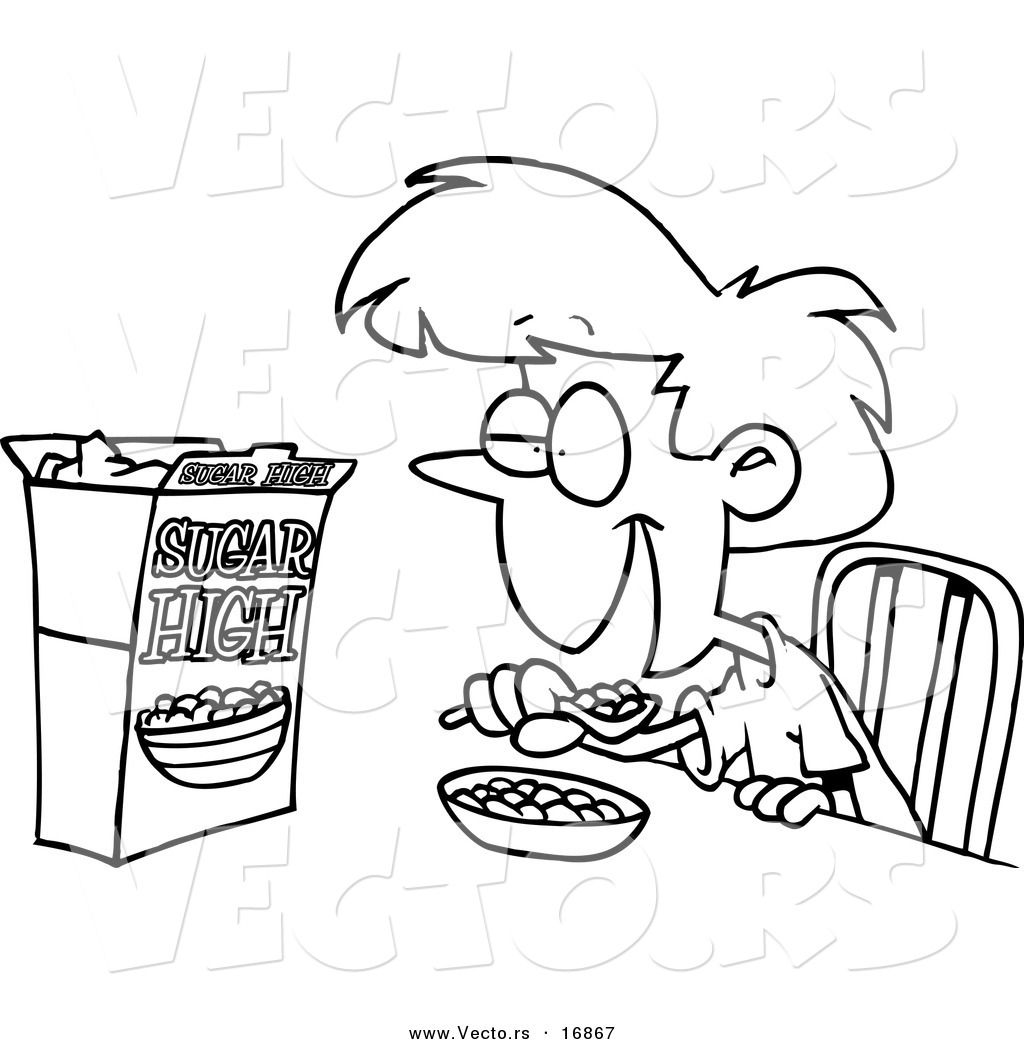drawings of kids eating breakfast eat breakfast cartoon - Cartoon Drawings Of Kids