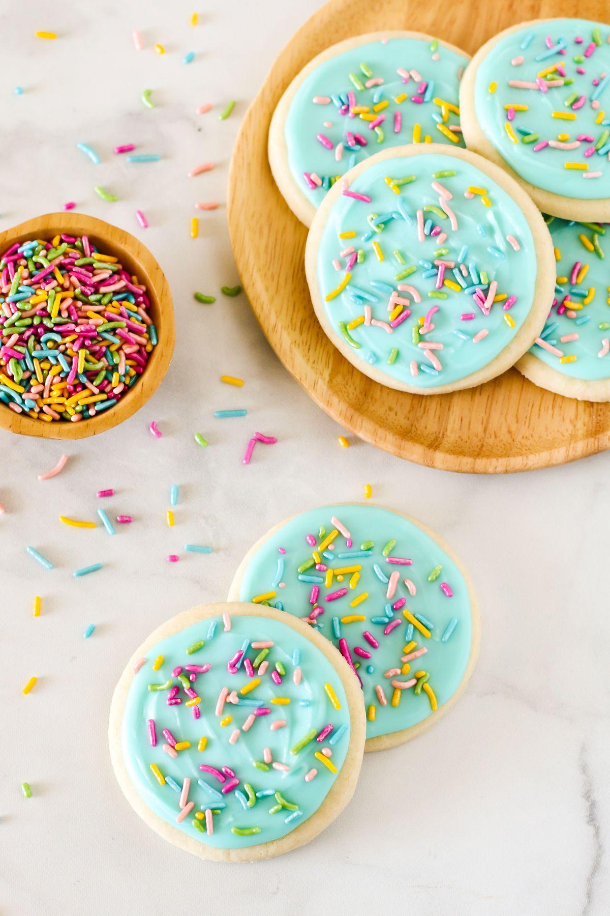 gluten free vegan frosted sugar cookies Sarah Bakes