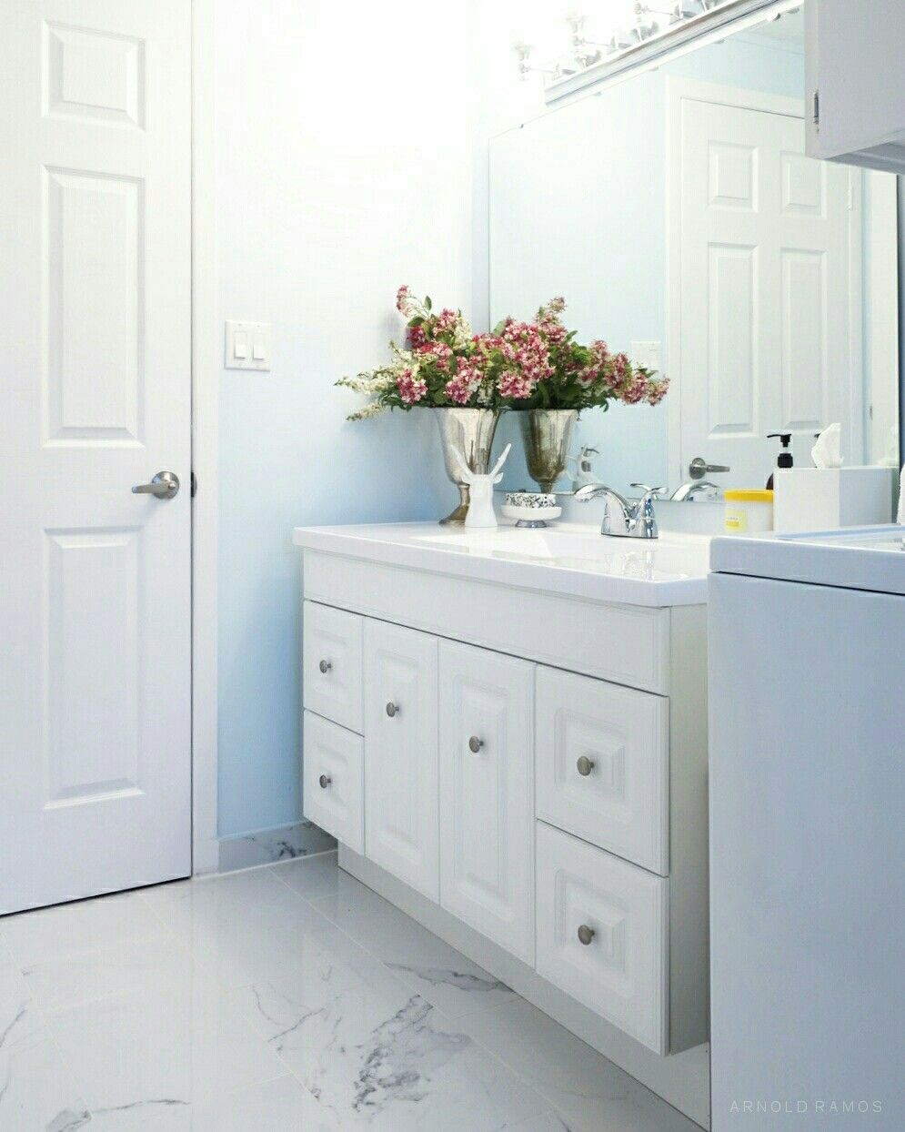Brand new white on white bathroom with white porcelain tiles | My ...