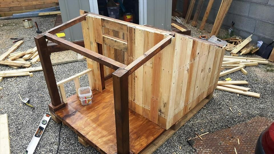 Pallet Dog House - Step by Step Plan | Pinterest | Dog houses, Dog ...