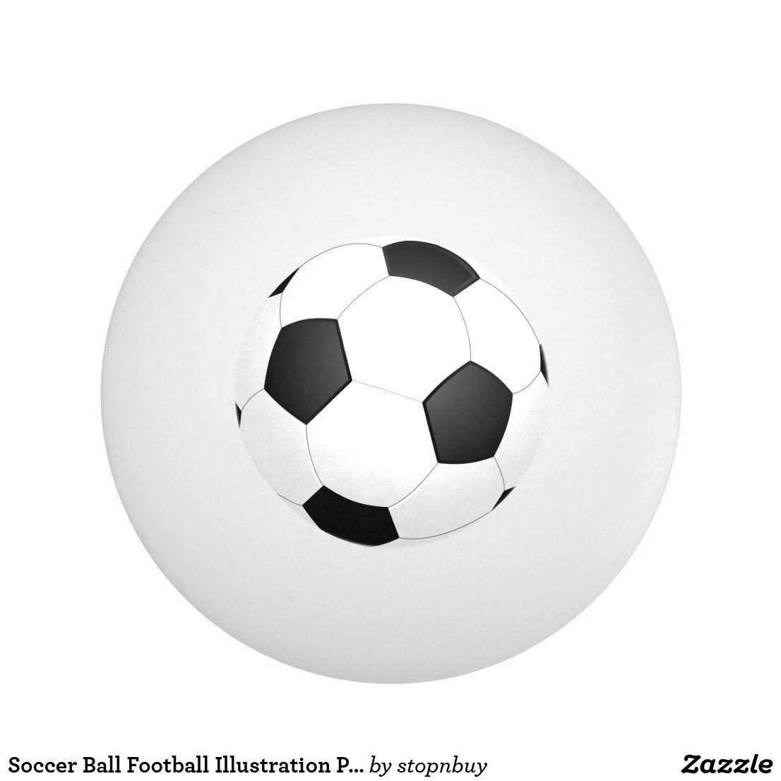 Soccer Ball Football Illustration Ping Pong Ball Zazzle Com Soccer Ball Football Illustration Soccer
