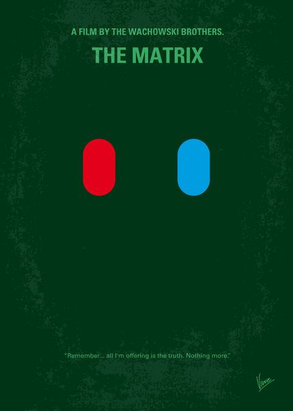 No093 my the matrix minimal movie poster art print for Art minimal facebook