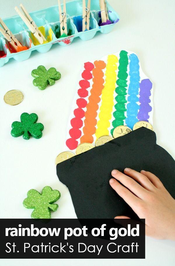 Rainbow Pot of Gold St. Patrick\'s Day Craft